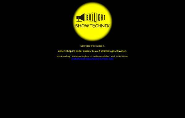 Vorschau von www.bullight.de, Bullight Showtechnik Emsdetten