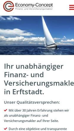 Vorschau der mobilen Webseite www.economy-concept.de, Economy Concept GmbH