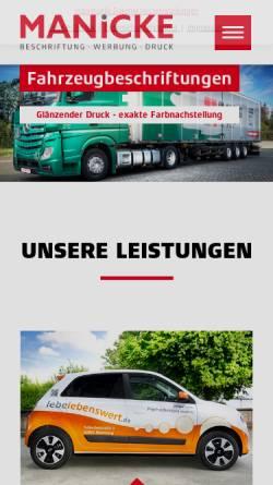Vorschau der mobilen Webseite www.manicke.de, Manicke OHG