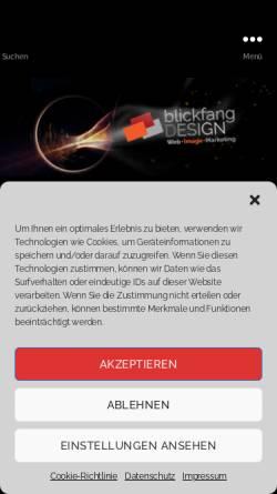 Vorschau der mobilen Webseite www.blickfang-design.net, Werbeagentur blickfang-design