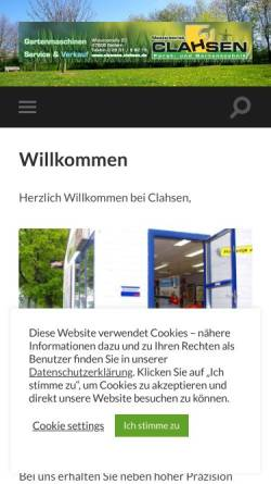 Vorschau der mobilen Webseite www.clemens-clahsen.de, Clemens Clahsen
