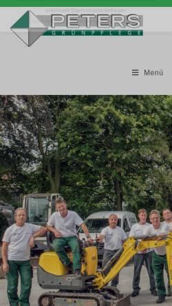 Vorschau der mobilen Webseite www.friedhelm-peters.de, Haus- & Grundstückspflege Friedhelm Peters