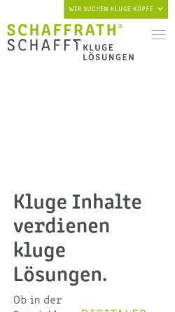 Vorschau der mobilen Webseite www.schaffrath.de, L. N. Schaffrath DruckMedien GmbH & Co. KG