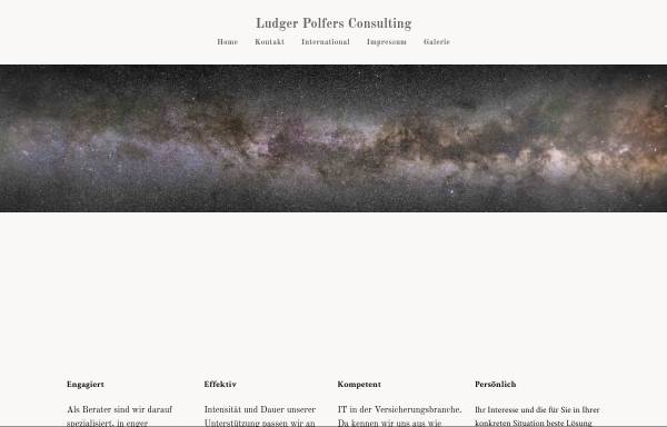 Vorschau von www.polfers.de, Ludger Polfer, Beratung und Softwareentwicklung.
