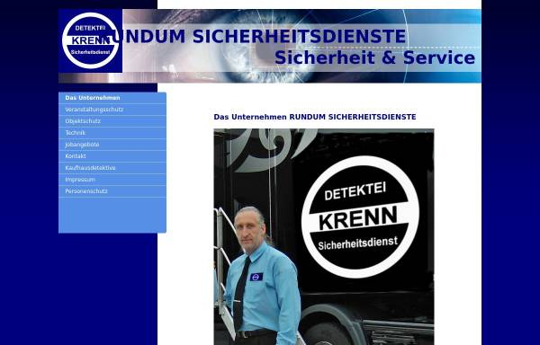 Vorschau von www.rundum-sicherheitsdienste.de, Sicherheitsdienste Stephanus Heinrich Krenn