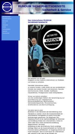 Vorschau der mobilen Webseite www.rundum-sicherheitsdienste.de, Sicherheitsdienste Stephanus Heinrich Krenn