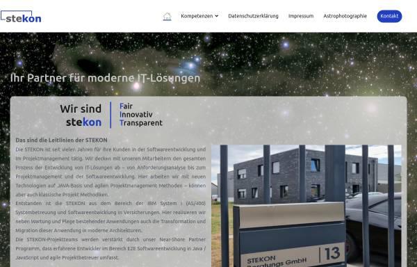 Vorschau von www.stekon.de, STEKON Beratungs GmbH