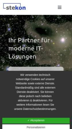 Vorschau der mobilen Webseite www.stekon.de, STEKON Beratungs GmbH