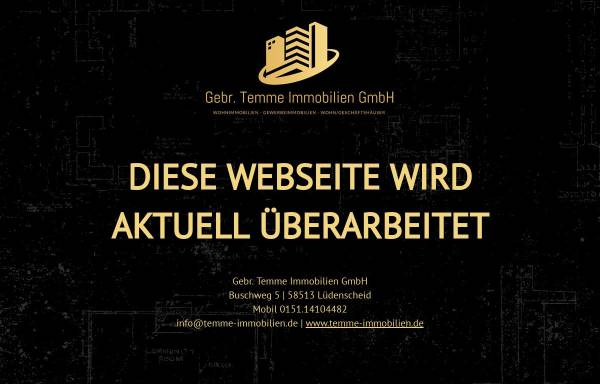 Vorschau von www.temme-immobilien.de, Immobilien Temme