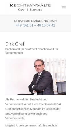 Vorschau der mobilen Webseite www.kanzlei-ags.de, Rechtsanwälte Dr. Akca, Graf und Schaefer, Frechen