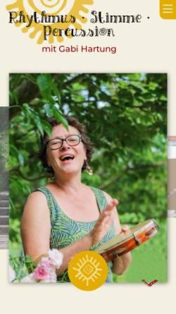Vorschau der mobilen Webseite rhythmus-stimme-percussion.de, Hartung, Gabi - rhythmus-stimme-percussion