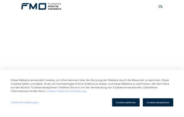 Vorschau von www.fmo.de, FMO Flughafen Münster / Osnabrück GmbH