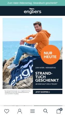 Vorschau der mobilen Webseite www.engbers.com, Engbers GmbH & Co.KG