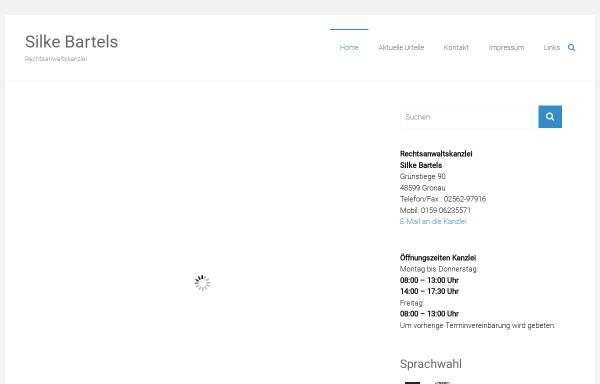 Vorschau von www.rechtsanwaelte-bartels.de, Rechtsanwaltskanzlei Rüdiger und Silke Bartels