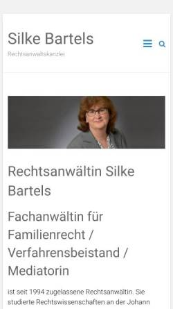 Vorschau der mobilen Webseite www.rechtsanwaelte-bartels.de, Rechtsanwaltskanzlei Rüdiger und Silke Bartels