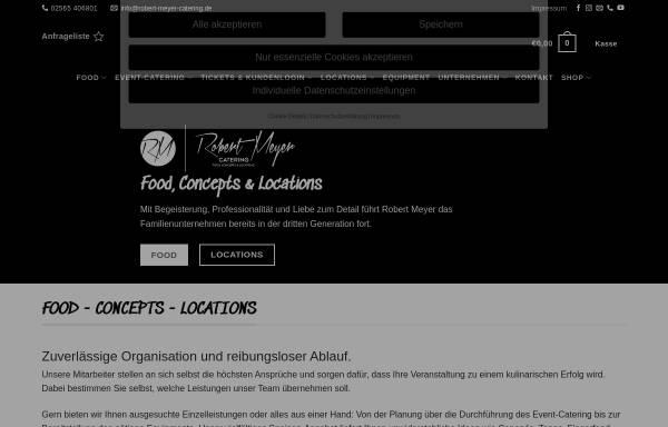 Vorschau von www.robert-meyer-catering.de, Robert Meyer Catering GmbH
