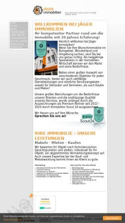 Vorschau der mobilen Webseite aj-immobilien.de, Angelika Jäger Immobilien