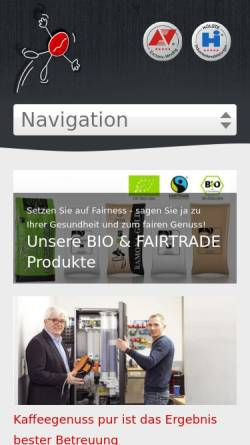 Vorschau der mobilen Webseite www.ap-nordwest.de, AP Automaten-Verpflegung Nordwest GmbH