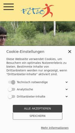 Vorschau der mobilen Webseite www.fitao.de, Fitao - Gesundheitsberatung