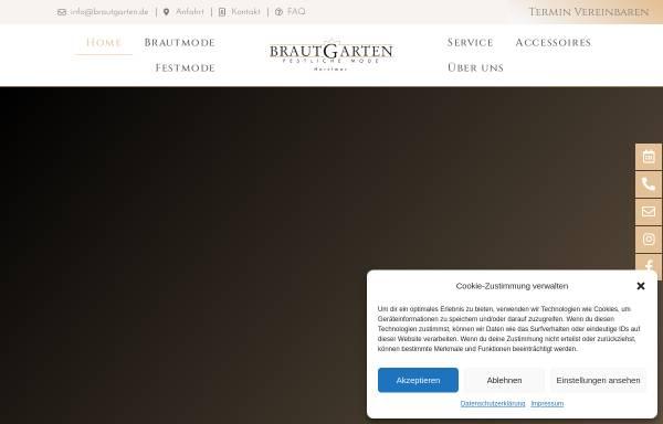 Vorschau von www.brautgarten.de, Brautgarten - Festliche Mode