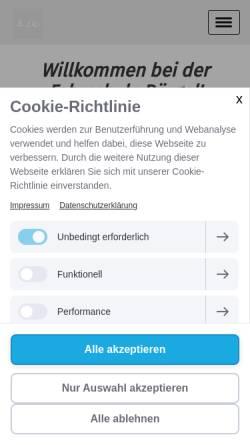 Vorschau der mobilen Webseite www.fahrschule-boergel.de, Fahrschul-Team Weers + Börgel