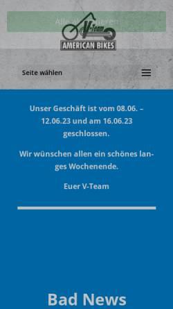 Vorschau der mobilen Webseite www.v-team.de, V-Team American Bikes