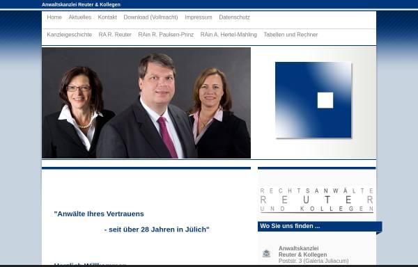 Vorschau von www.advo-reuter.de, Anwaltskanzlei Reuter u. Kollegen