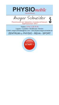 Vorschau der mobilen Webseite www.physio-ansgar-schneider.de, Physiotherapie- und Gesundheitspaxis Ansgar Schneider