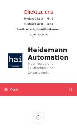 Vorschau der mobilen Webseite www.heidemann-pneumatik.de, Markus Heidemann