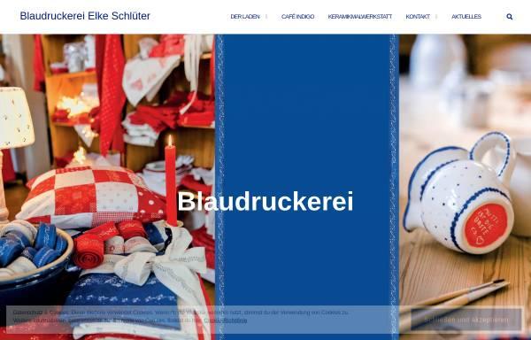 Vorschau von www.blaudruckerei-luedinghausen.de, Blaudruckerei Elke Schlüter, Lüdinghausen