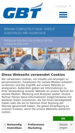Vorschau der mobilen Webseite www.buecolit.de, GBT-BÜCOLIT GmbH