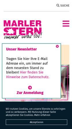 Vorschau der mobilen Webseite www.marlerstern.de, Marler Stern