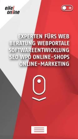 Vorschau der mobilen Webseite www.eifel-online.com, Eifel-Online GmbH