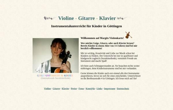 Vorschau von www.margit-wagner.de, Instrumentalunterricht für Kinder in Göttingen