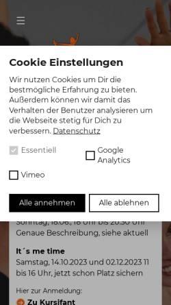 Vorschau der mobilen Webseite www.bealance.de, Bealance