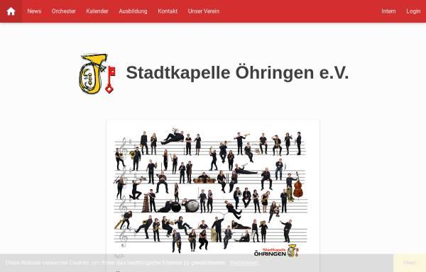 Vorschau von www.stadtkapelle-oehringen.de, Stadtkapelle Öhringen e.V.