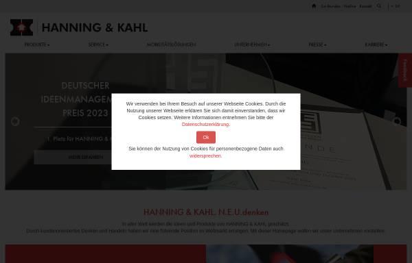 Vorschau von www.hanning-kahl.de, Hanning & Kahl GmbH & Co KG