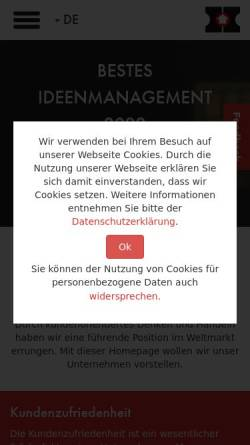 Vorschau der mobilen Webseite www.hanning-kahl.de, Hanning & Kahl GmbH & Co KG
