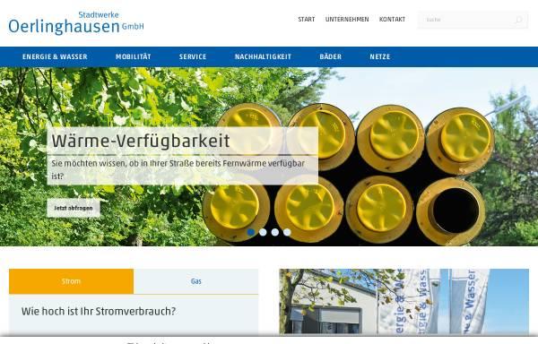 Vorschau von www.stadtwerke-oerlinghausen.de, Stadtwerke Oerlinghausen