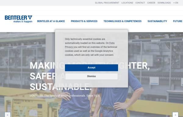Vorschau von www.benteler.com, Benteler International AG