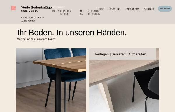 Vorschau von www.wude-bodenbelaege.de, Wude Bodenbeläge