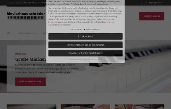 Vorschau von www.klavierbau-schroeder.de, KLAVIERHAUS SCHRÖDER GbR