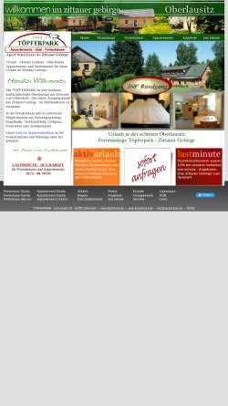 Vorschau der mobilen Webseite www.toepferpark.de, Töpferpark