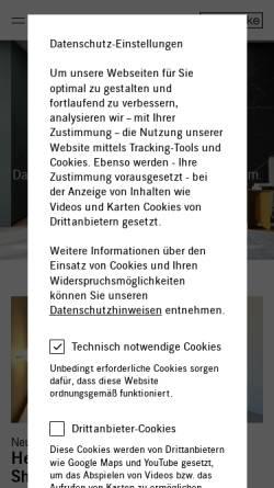 Vorschau der mobilen Webseite www.interluebke.de, interlübke, Gebr. Lübke GmbH & Co. KG