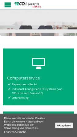 Vorschau der mobilen Webseite www.recoa.de, RECOA Computertechnik