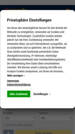 Vorschau der mobilen Webseite www.reifen-pagenkemper.de, Reifen-Pagenkemper