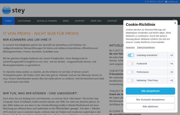 Vorschau von www.stey.de, Stey - Jochen Stey Computer Hard- & Software GmbH