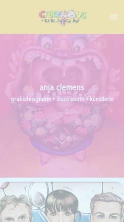Vorschau der mobilen Webseite www.cartoons-design.de, Cartoons Design