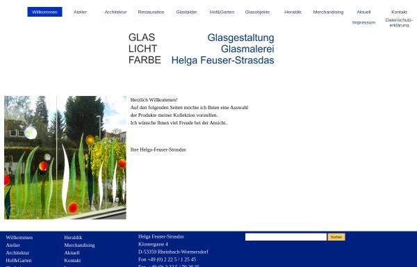 Vorschau von www.feuser-strasdas.de, Glasmalerei Helga Feuser-Strasdas