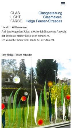 Vorschau der mobilen Webseite www.feuser-strasdas.de, Glasmalerei Helga Feuser-Strasdas